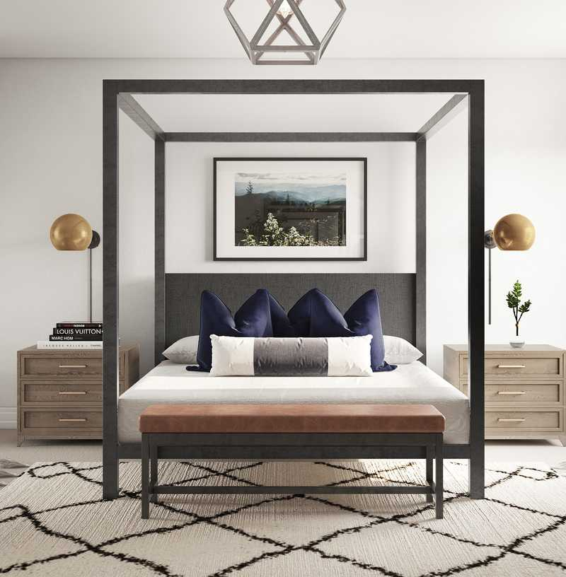 Contemporary, Rustic Bedroom Design by Havenly Interior Designer Libby