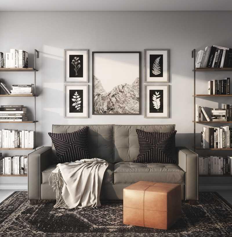 Contemporary, Industrial, Minimal Bedroom Design by Havenly Interior Designer Madison