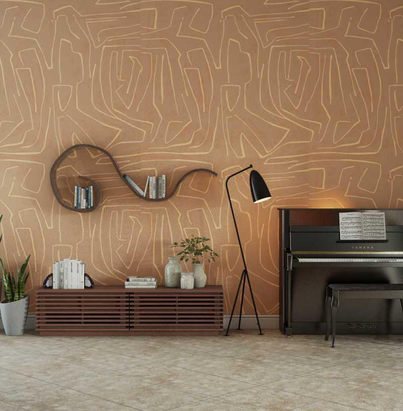 Contemporary, Modern, Midcentury Modern, Minimal Living Room Design by Havenly Interior Designer Jessica