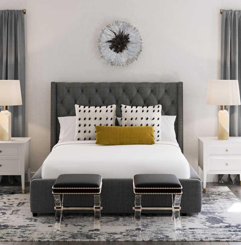 Contemporary, Glam, Transitional Bedroom Design by Havenly Interior Designer Victoria