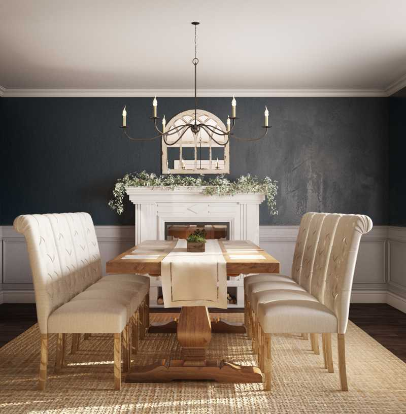 Traditional, Farmhouse, Rustic, Transitional Dining Room Design by Havenly Interior Designer Emma