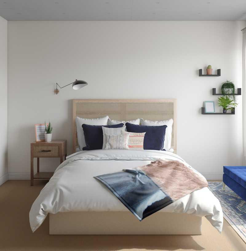 Bohemian, Global, Midcentury Modern Bedroom Design by Havenly Interior Designer Madison