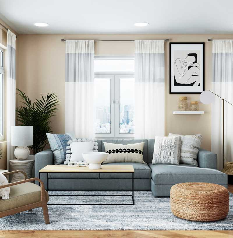 Midcentury Modern Living Room Design by Havenly Interior Designer Dani
