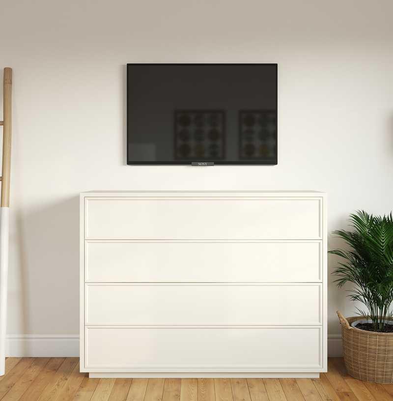 Eclectic, Bohemian, Coastal, Midcentury Modern Bedroom Design by Havenly Interior Designer Emma