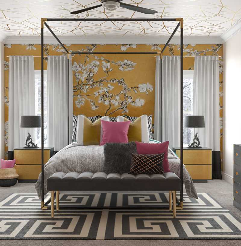 Modern, Eclectic, Glam Bedroom Design by Havenly Interior Designer Ashlyn