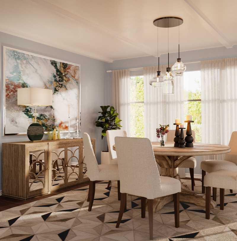Traditional, Farmhouse Dining Room Design by Havenly Interior Designer Nina