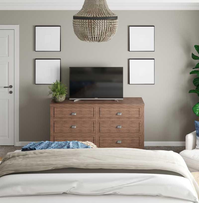 Coastal, Transitional Bedroom Design by Havenly Interior Designer Kaity