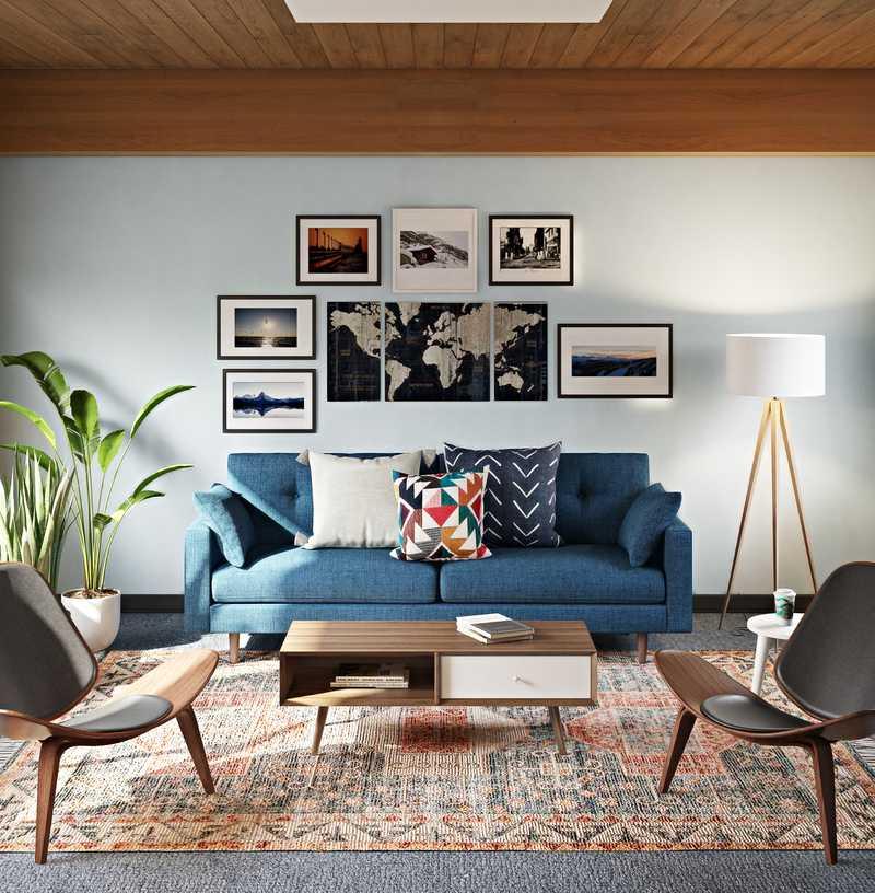 Midcentury Modern, Scandinavian Office Design by Havenly Interior Designer Makenzie