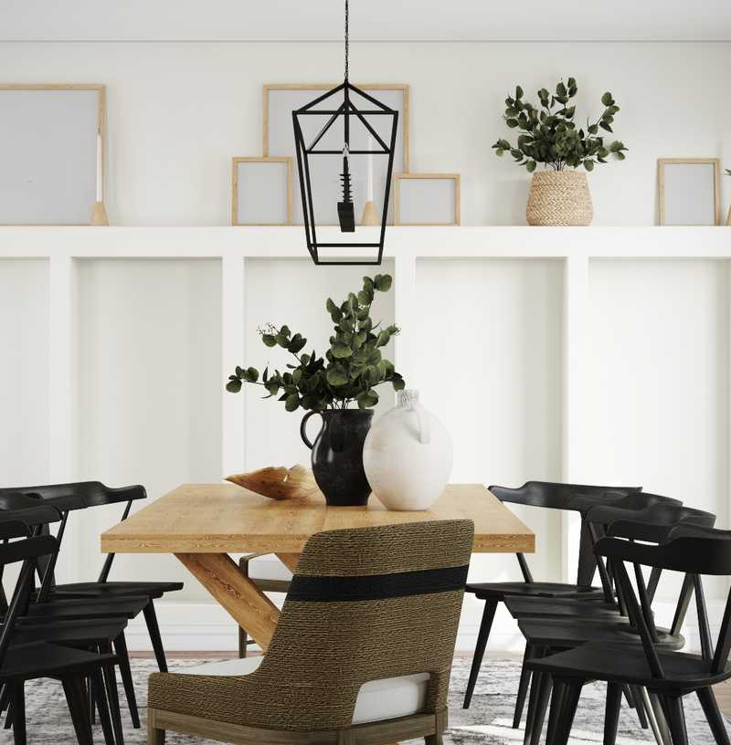 Farmhouse, Transitional Dining Room Design by Havenly Interior Designer Kaity