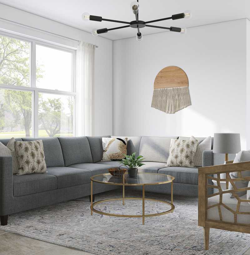 Modern, Bohemian, Midcentury Modern, Minimal Living Room Design by Havenly Interior Designer Morgan