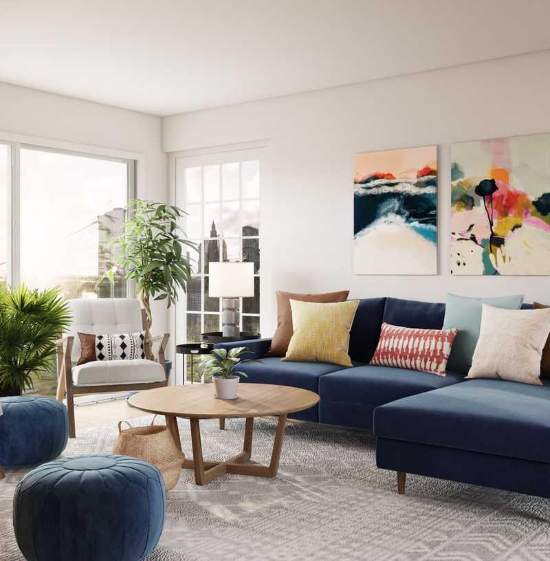 Modern, Eclectic, Midcentury Modern Living Room Design by Havenly Interior Designer Sydney