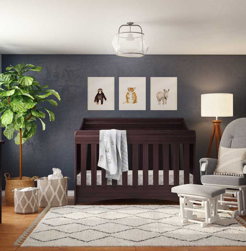 Bohemian, Farmhouse Nursery Design by Havenly Interior Designer Kaity