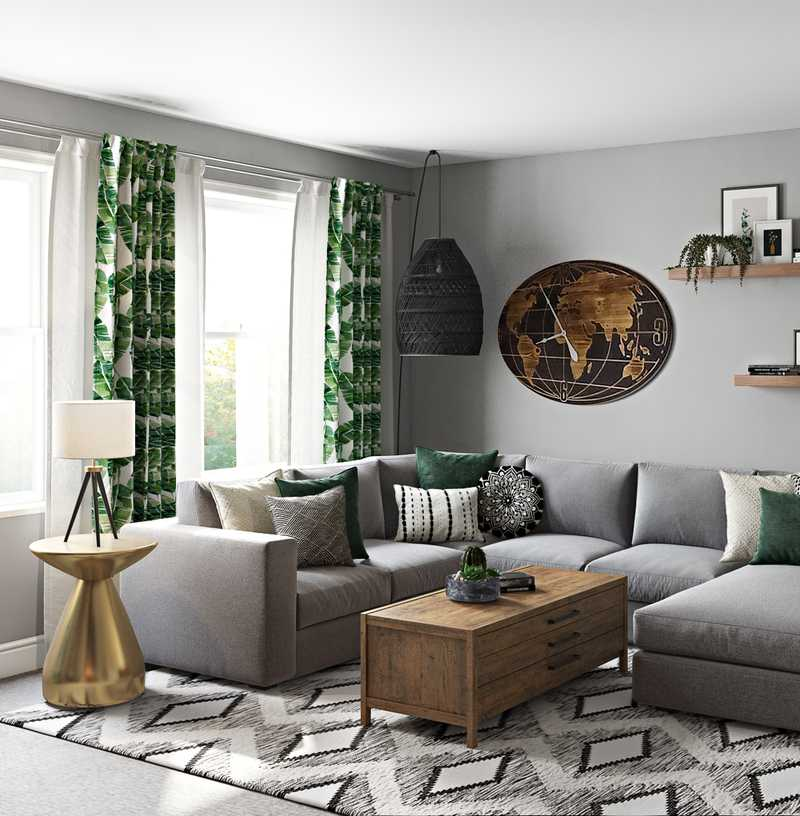 Eclectic, Bohemian Living Room Design by Havenly Interior Designer Carsey