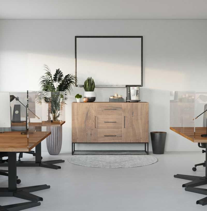 Modern, Bohemian Office Design by Havenly Interior Designer Kelly