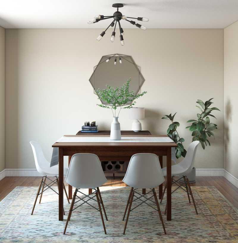 Midcentury Modern, Scandinavian Dining Room Design by Havenly Interior Designer Adrian