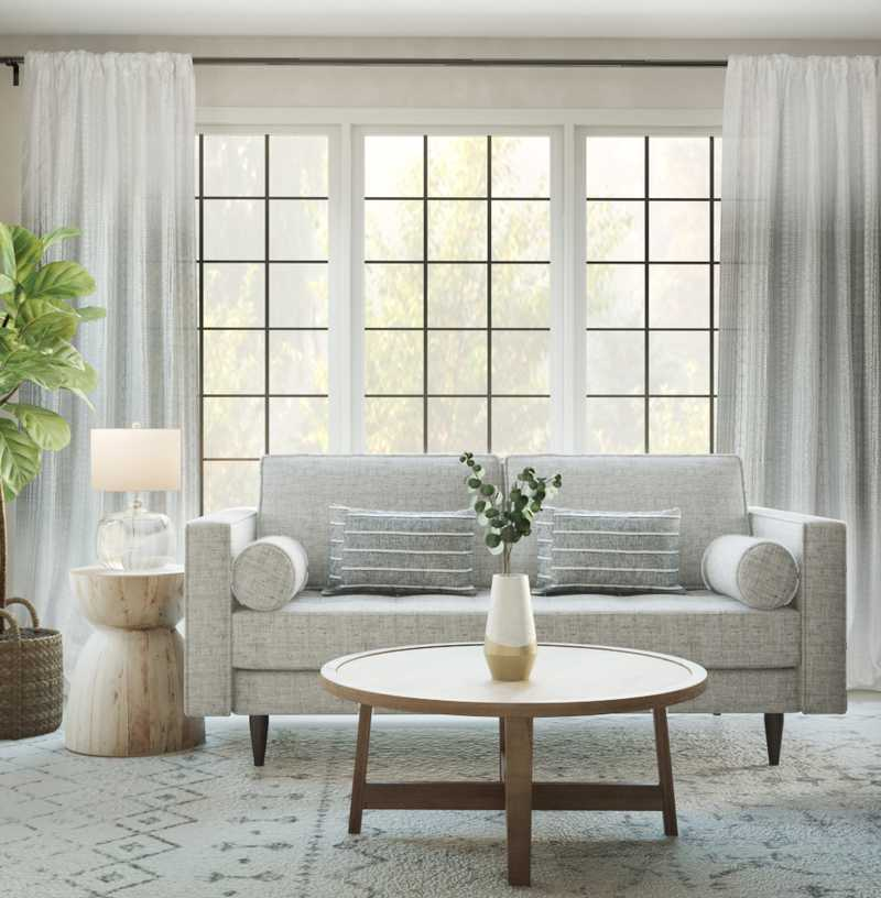 Contemporary, Farmhouse, Classic Contemporary Living Room Design by Havenly Interior Designer Sarah