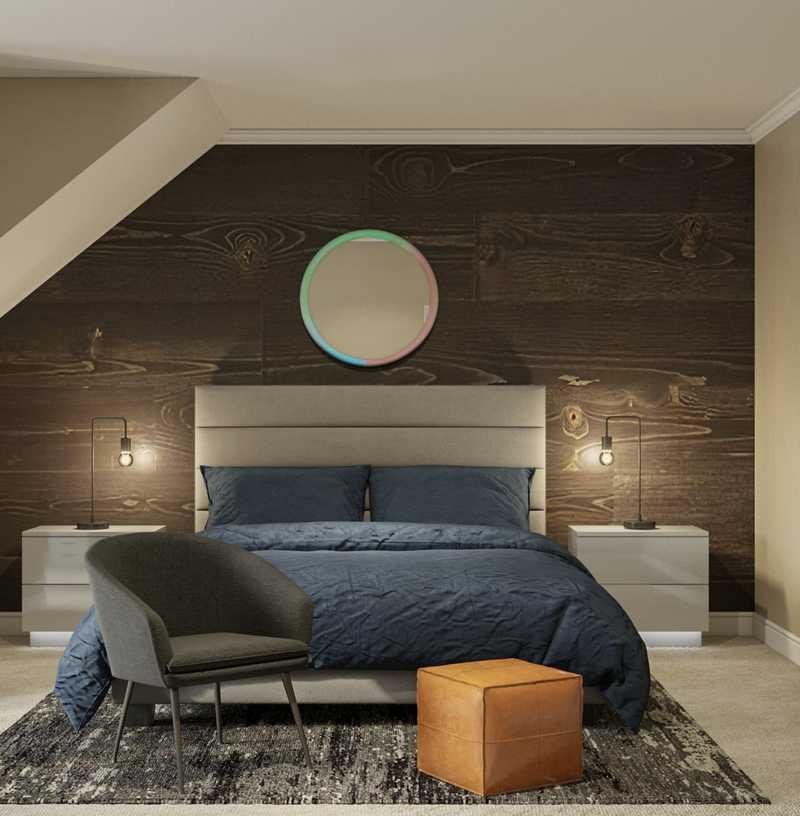 Modern, Industrial Bedroom Design by Havenly Interior Designer Carly