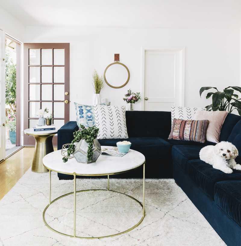 Modern, Eclectic, Bohemian Living Room Design by Havenly Interior Designer Jordan