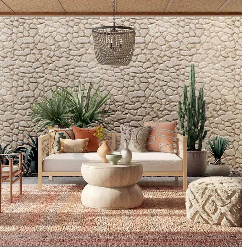 Bohemian, Coastal  Design by Havenly Interior Designer