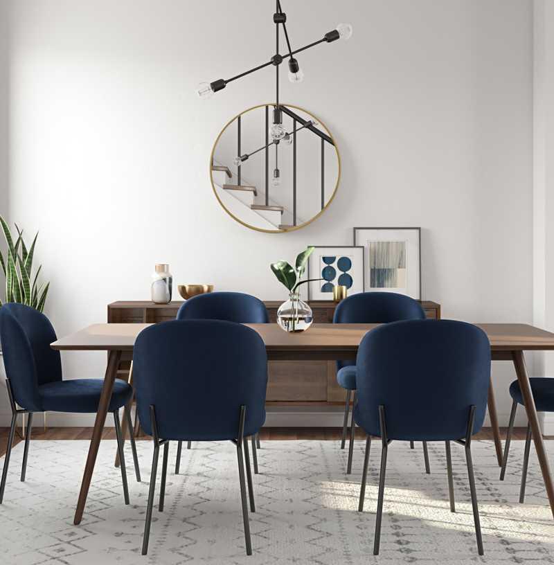 Midcentury Modern Dining Room Design by Havenly Interior Designer Allison