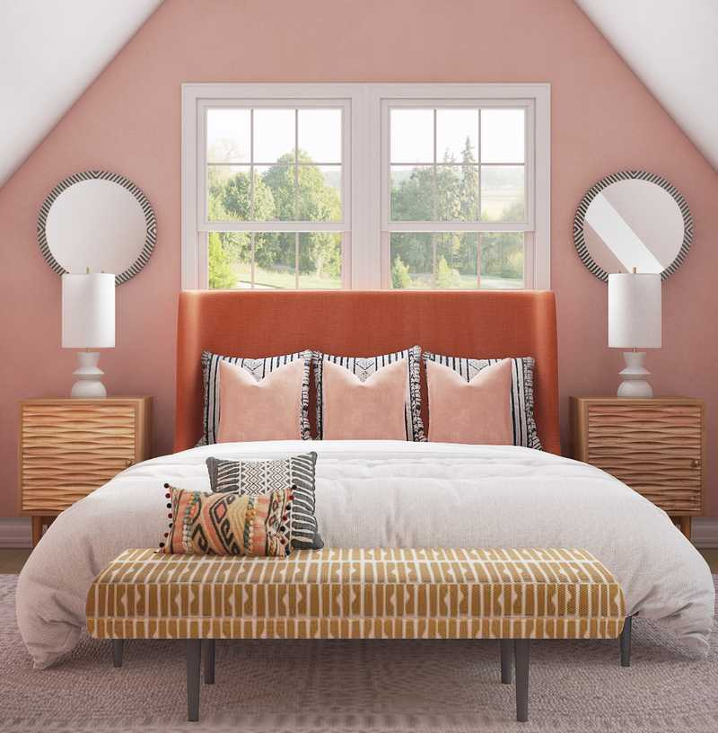 Eclectic, Bohemian Bedroom Design by Havenly Interior Designer Ashlyn