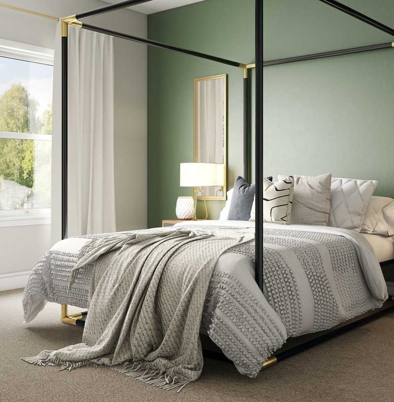 Contemporary, Eclectic, Glam Bedroom Design by Havenly Interior Designer Emilee