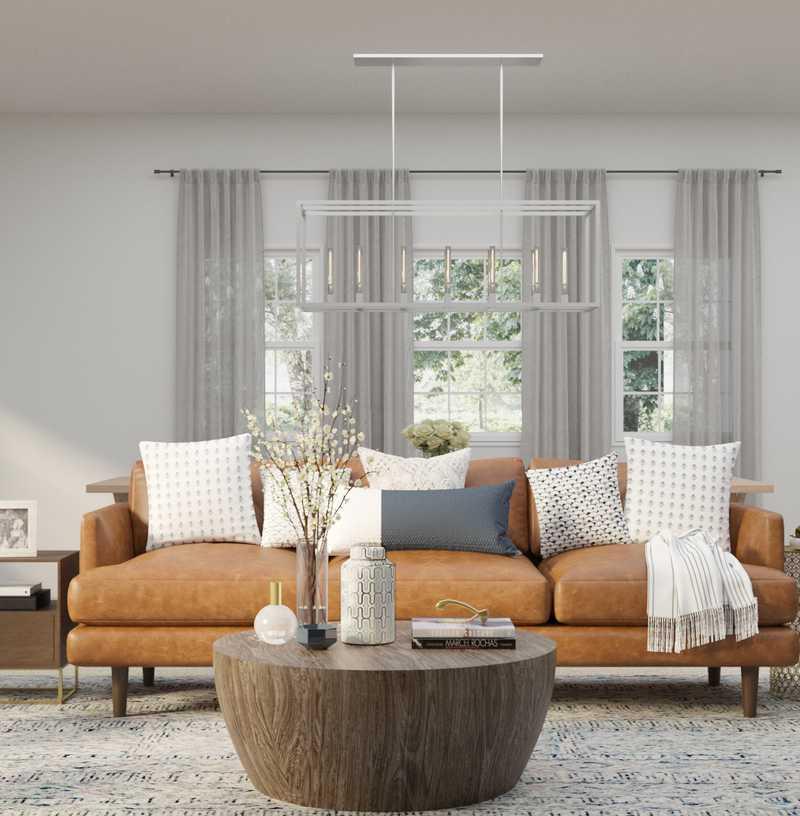 Contemporary, Coastal Living Room Design by Havenly Interior Designer Melisa