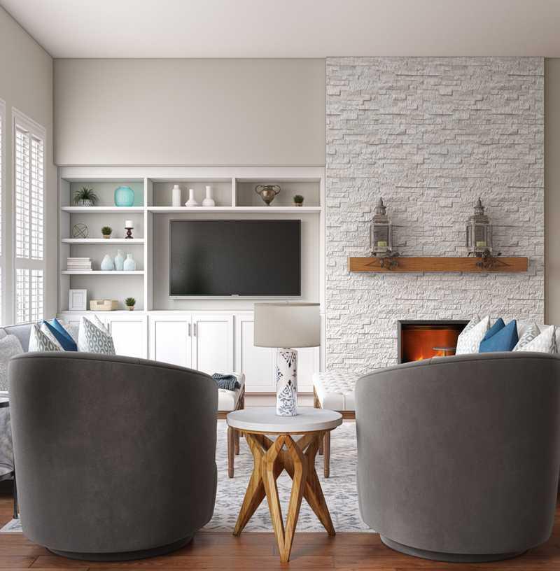 Traditional, Rustic Living Room Design by Havenly Interior Designer Madeline