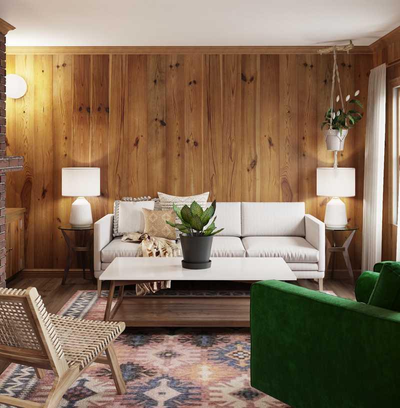 Modern, Bohemian, Industrial Living Room Design by Havenly Interior Designer Nicolle