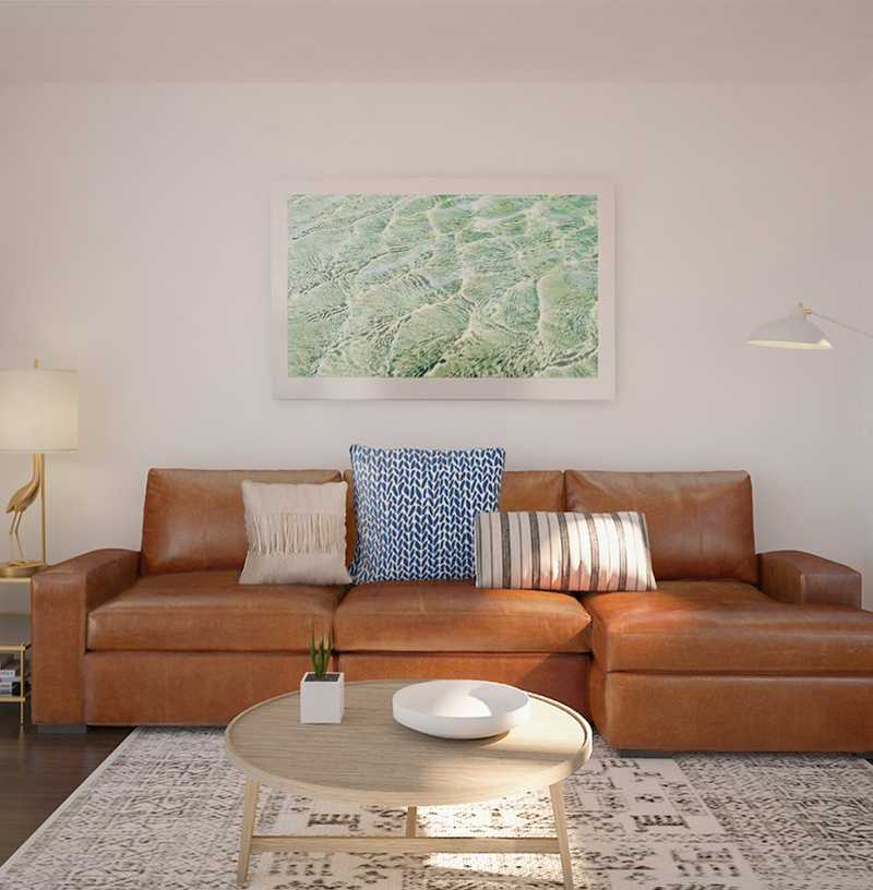 Eclectic, Bohemian, Coastal, Global Living Room Design by Havenly Interior Designer Robyn