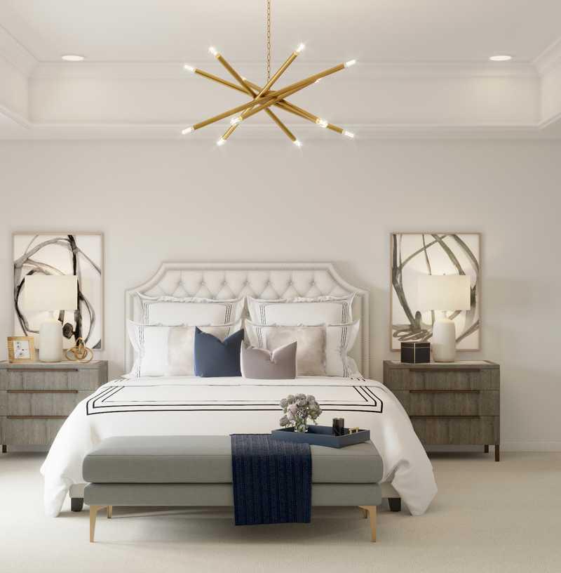 Contemporary, Modern, Glam Bedroom Design by Havenly Interior Designer Karen