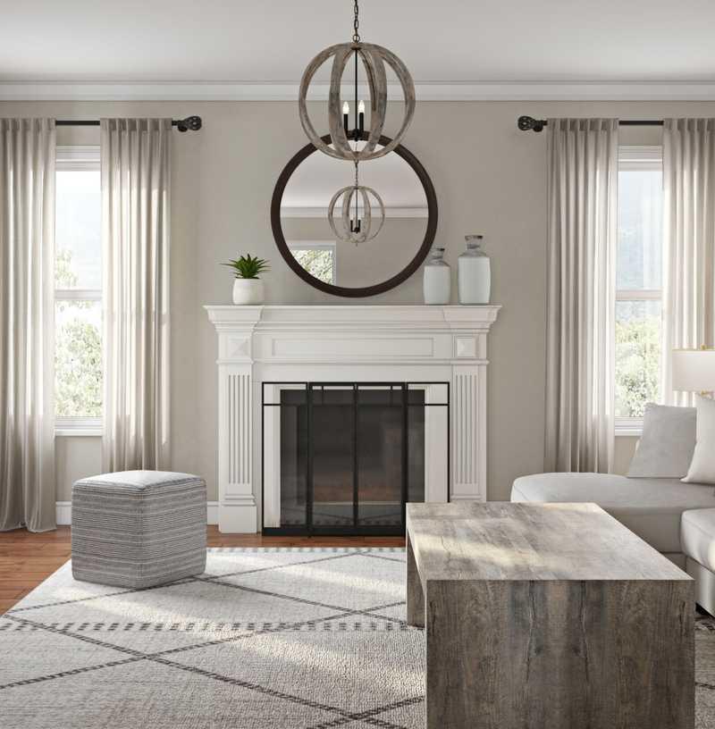 Contemporary, Bohemian, Midcentury Modern Living Room Design by Havenly Interior Designer Rocio