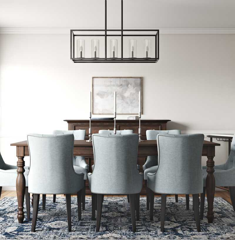 Classic, Traditional Dining Room Design by Havenly Interior Designer Aubrey