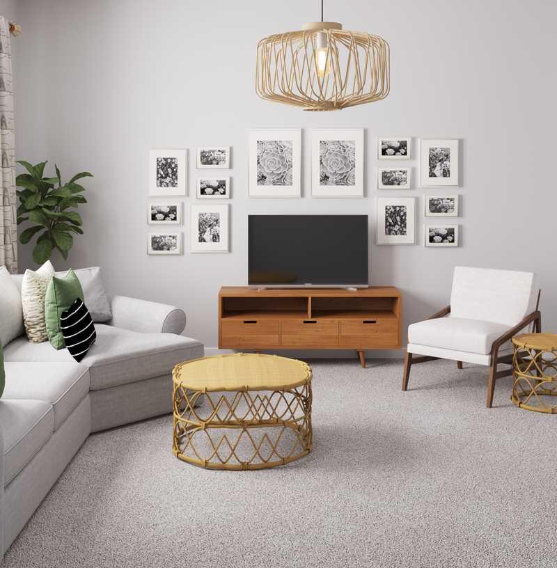 Modern, Bohemian Living Room Design by Havenly Interior Designer Marsha