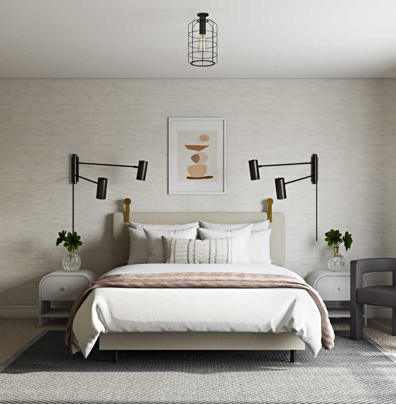 Modern, Industrial, Minimal Bedroom Design by Havenly Interior Designer Sophia