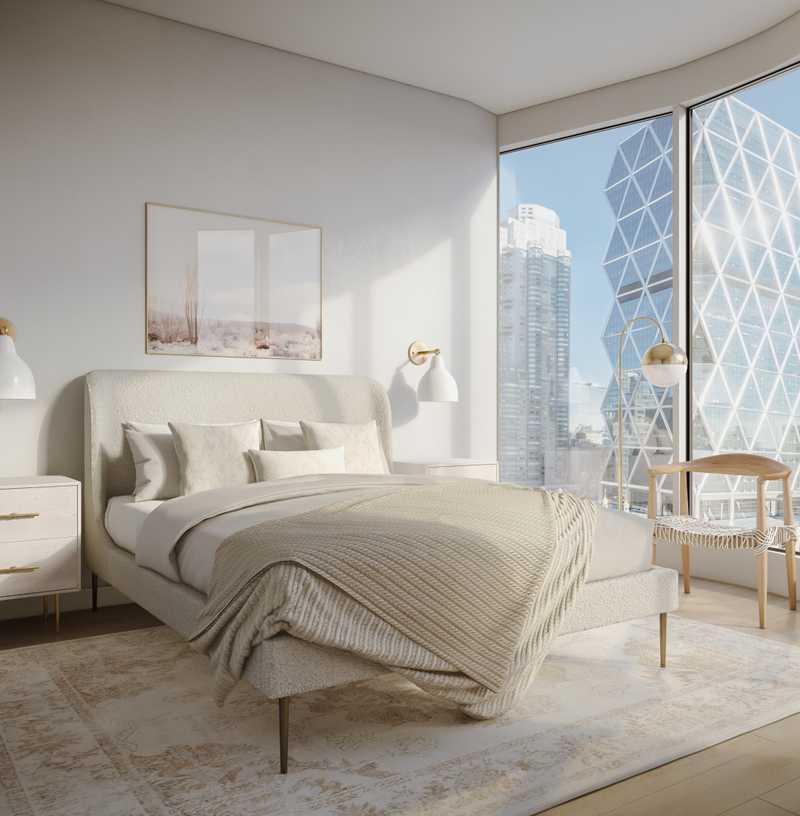 Bohemian, Glam, Scandinavian Bedroom Design by Havenly Interior Designer Megan