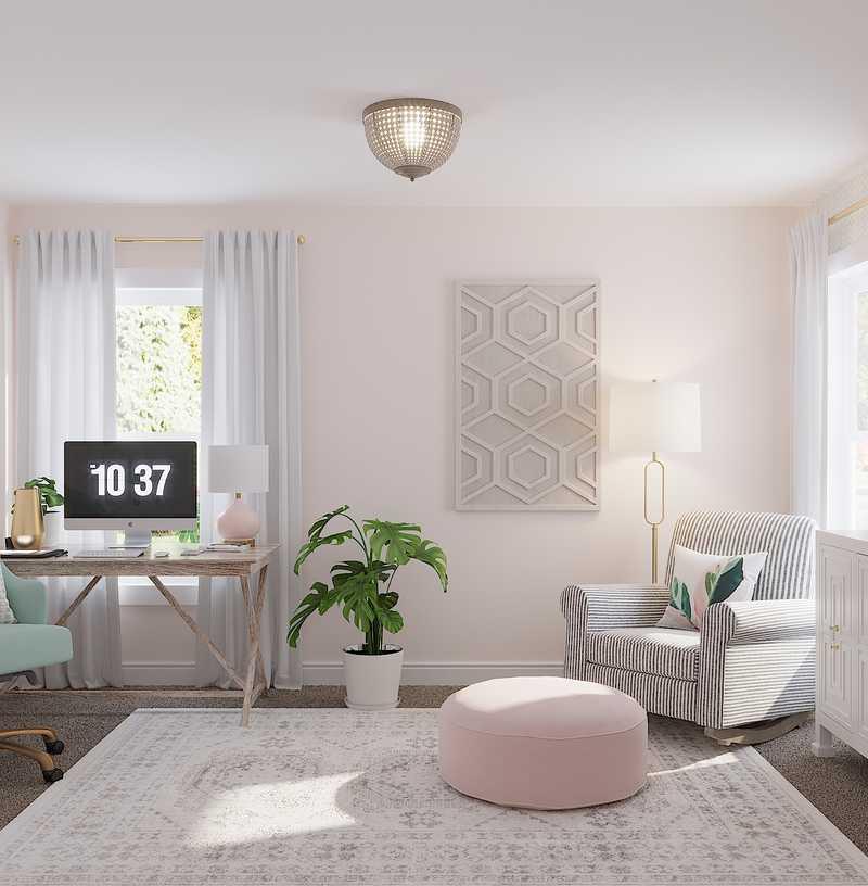 Coastal, Traditional, Preppy Office Design by Havenly Interior Designer Andi