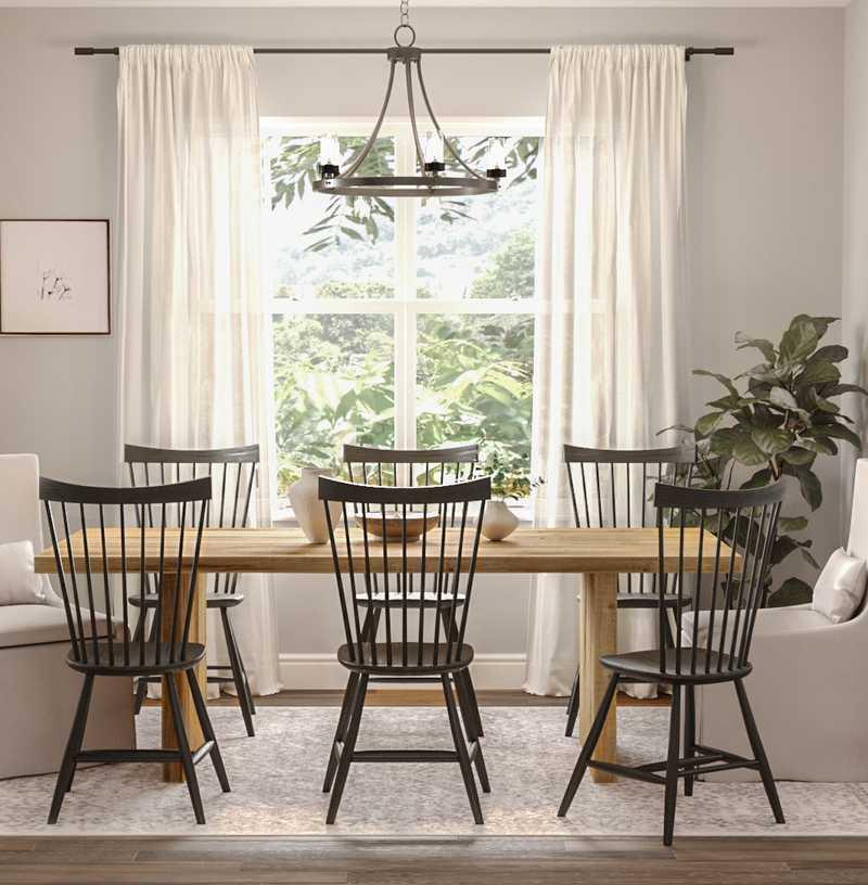 Classic, Farmhouse Dining Room Design by Havenly Interior Designer Namita