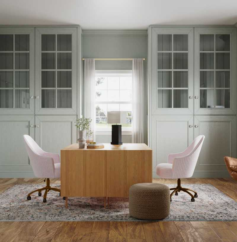 Eclectic, Bohemian Office Design by Havenly Interior Designer Ana