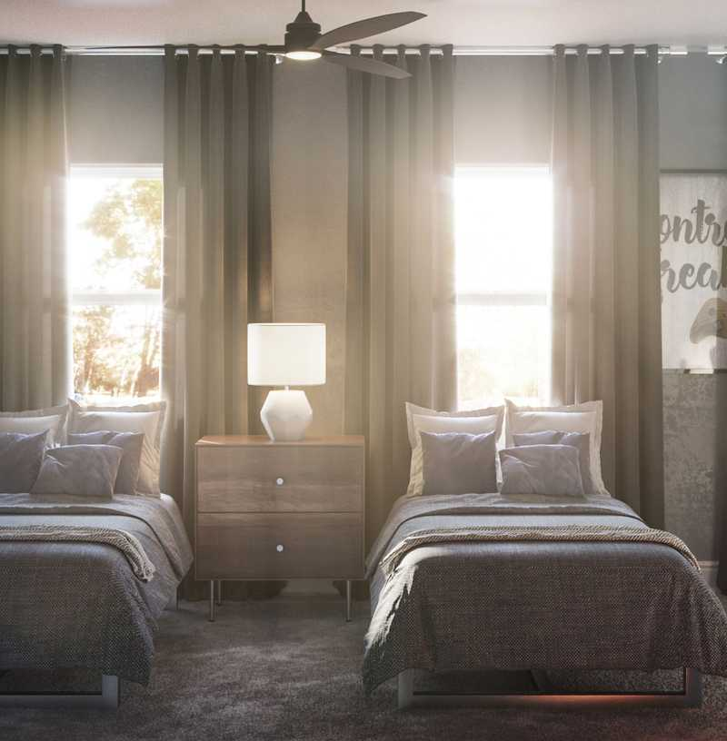 Industrial Bedroom Design by Havenly Interior Designer Austin