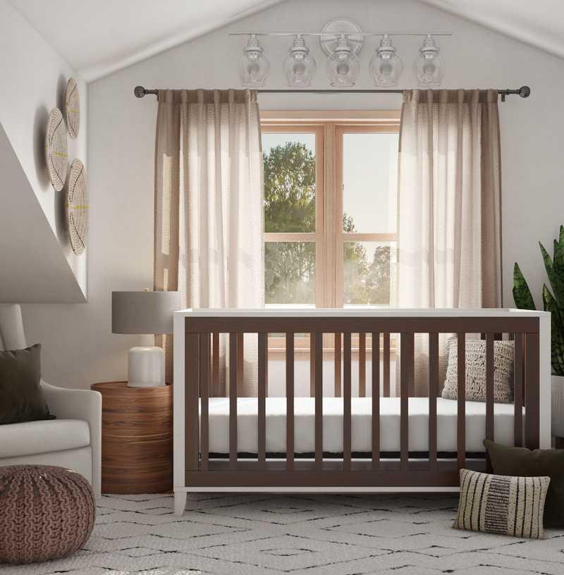 Midcentury Modern, Scandinavian Nursery Design by Havenly Interior Designer Anny
