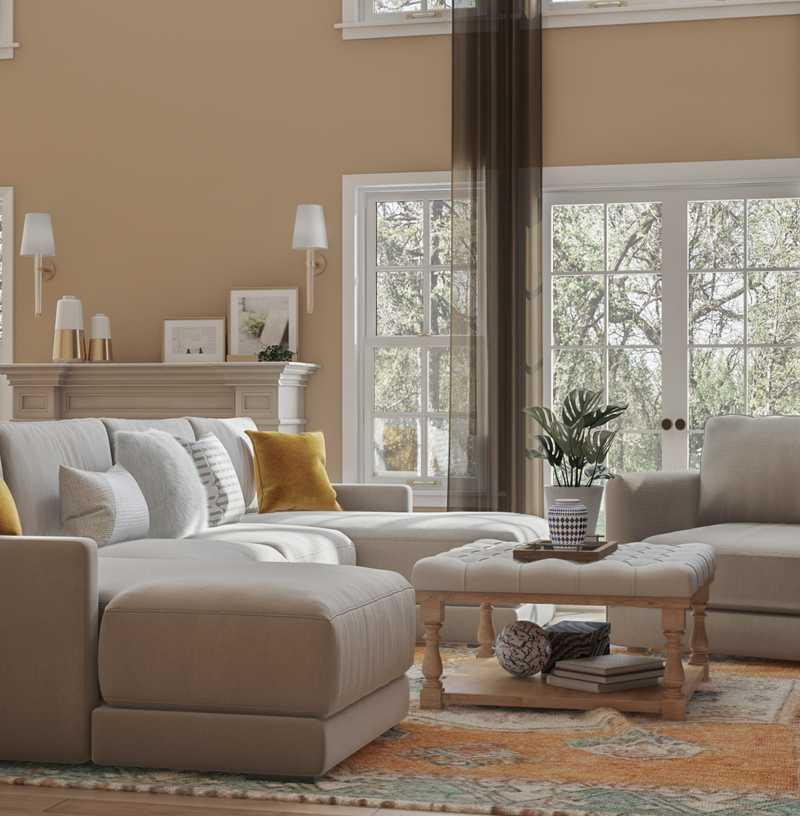 Modern, Industrial, Farmhouse Living Room Design by Havenly Interior Designer Dayana