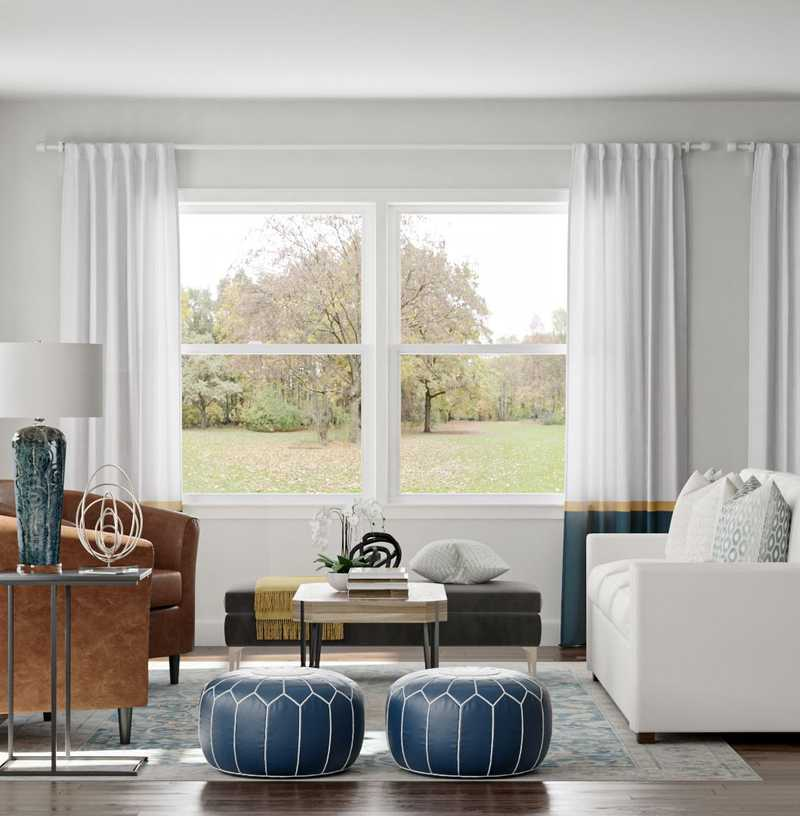 Modern, Classic, Transitional Living Room Design by Havenly Interior Designer Sara