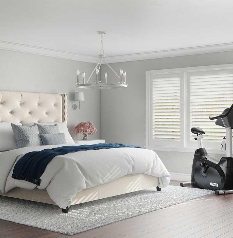 Classic, Coastal, Glam, Preppy Bedroom Design by Havenly Interior Designer Christina