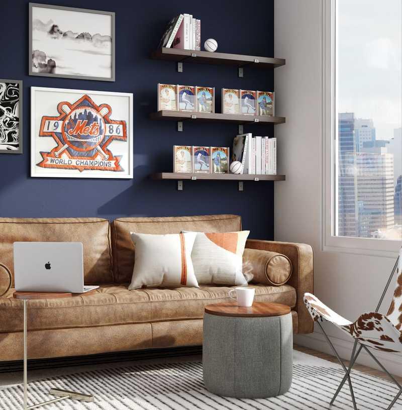 Industrial, Midcentury Modern Office Design by Havenly Interior Designer Astrid
