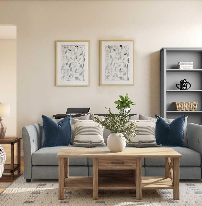 Classic, Farmhouse, Rustic Living Room Design by Havenly Interior Designer Briana