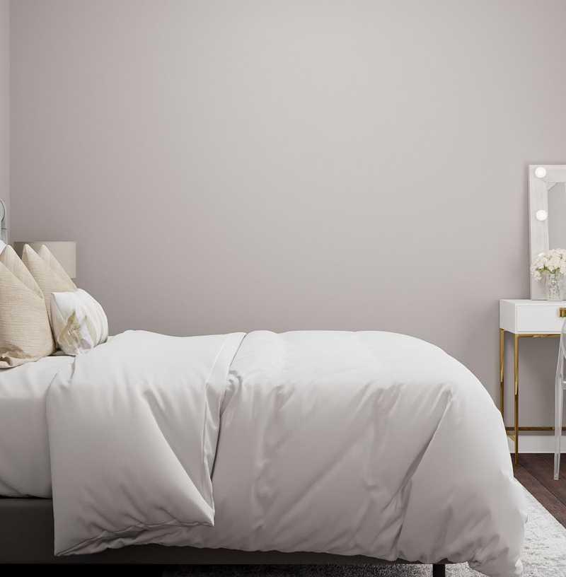 Modern, Glam, Midcentury Modern Bedroom Design by Havenly Interior Designer Laura