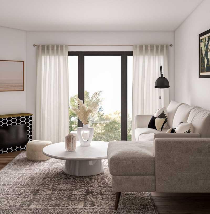 Modern, Scandinavian Living Room Design by Havenly Interior Designer Rebecca