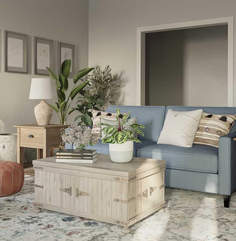 Farmhouse, Transitional Living Room Design by Havenly Interior Designer Carla
