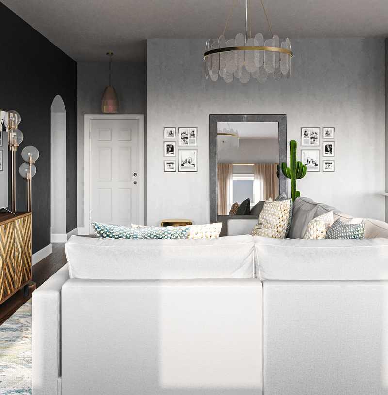 Contemporary, Modern, Coastal, Glam Living Room Design by Havenly Interior Designer Angelica